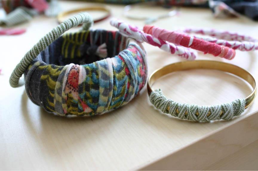 T-Shirt-Bracelets // Family chic