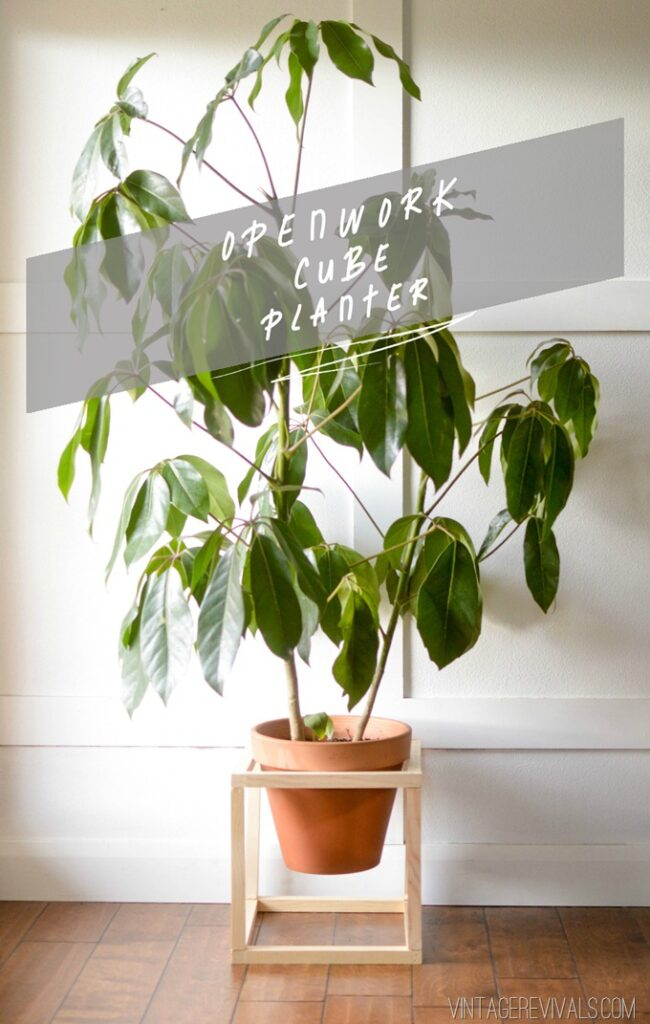 DIY Openwork Cube Planter Tutorial vintagerevivals.com_