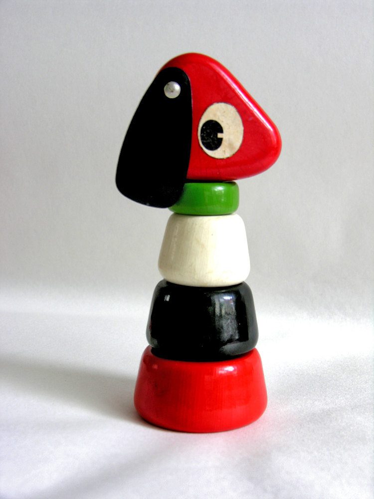 French vintage stacking dog - '60s - Educalux