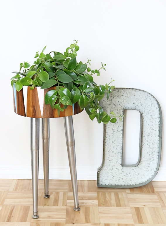 Turn a Wooden Bowl Into a Modern Plant Stand // Curbly
