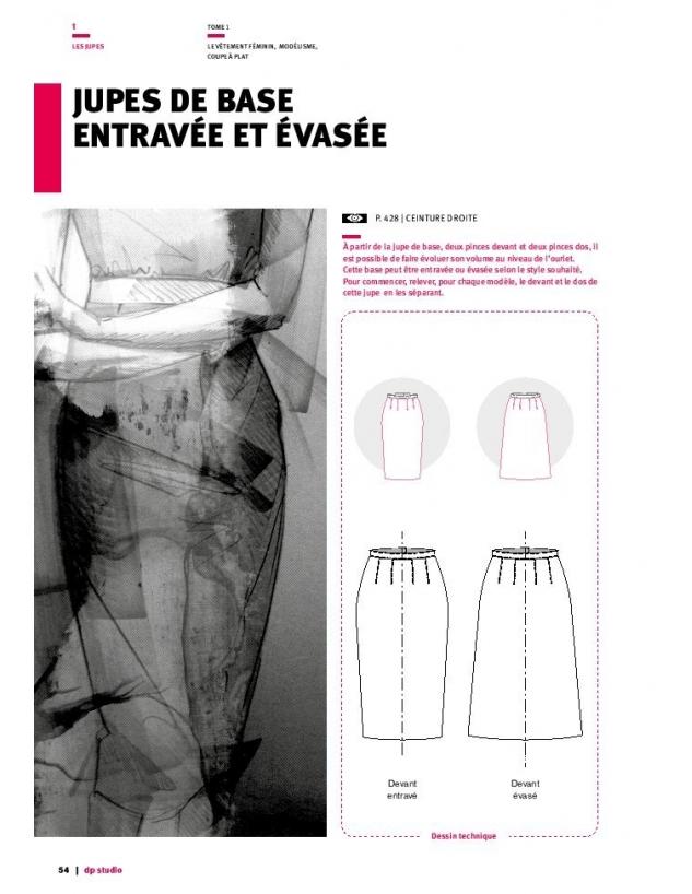 Modélisme : jupe-de-base-entravee-et-evasee // DP Studio
