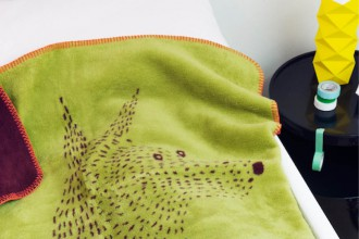 a DOG small blanket green_bordeaux