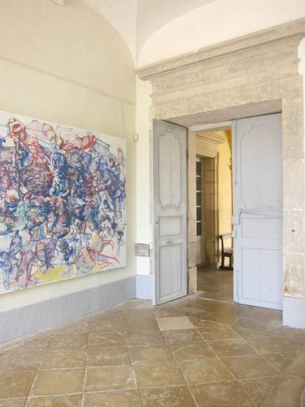 Les salles d'exposition du centre l'art dans l'abbaye