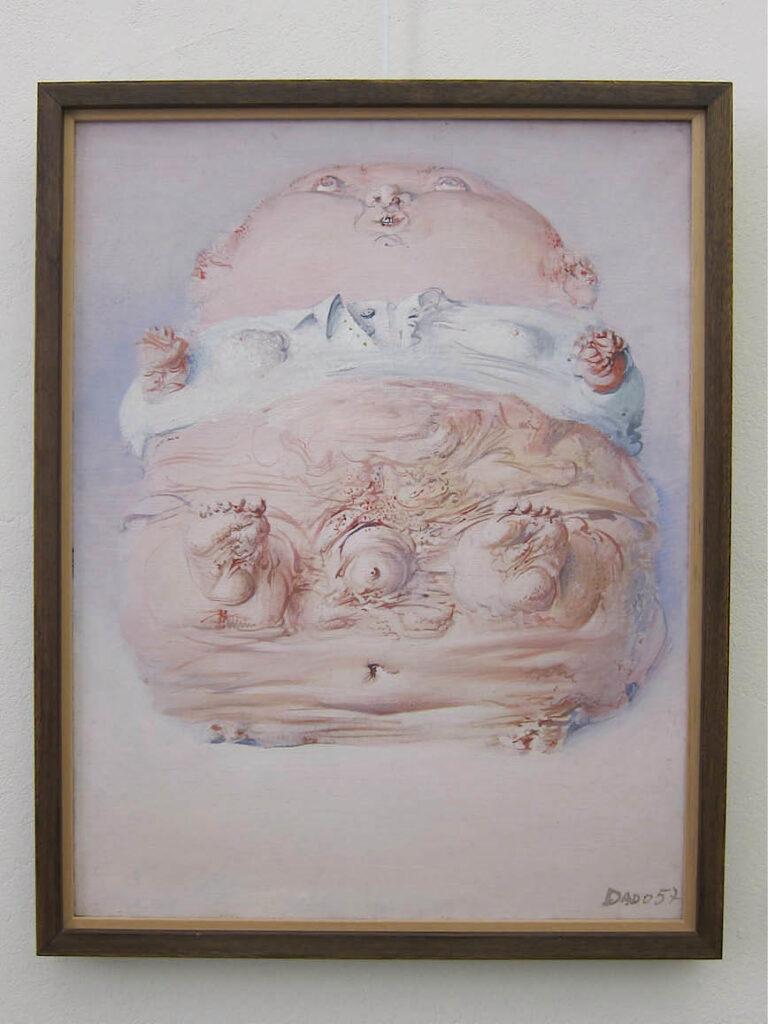 Dado. Bébé, 1957 - Huile sur toile