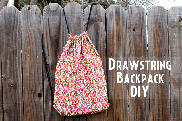 drawstring backpack diy