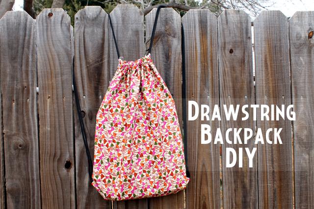 drawstring backpack diy