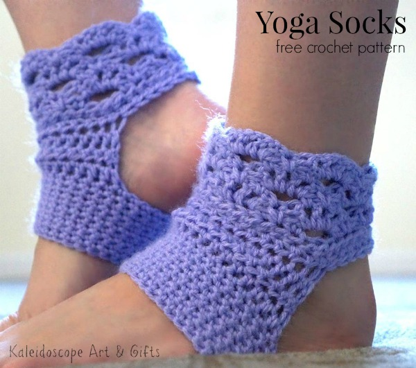 Free-crochet-pattern-for-yoga-socks.-Easy-to-make-and-fun-to-wear