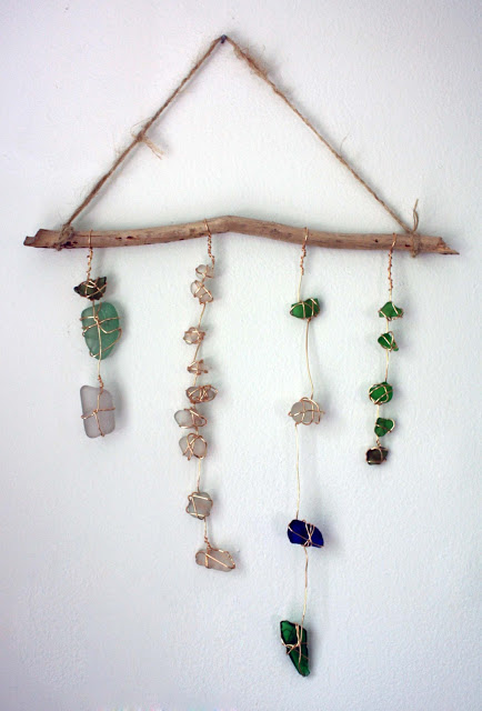 Sea glass chime