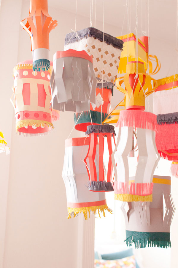Homemade paper Lantern DIY // Oh Happy day