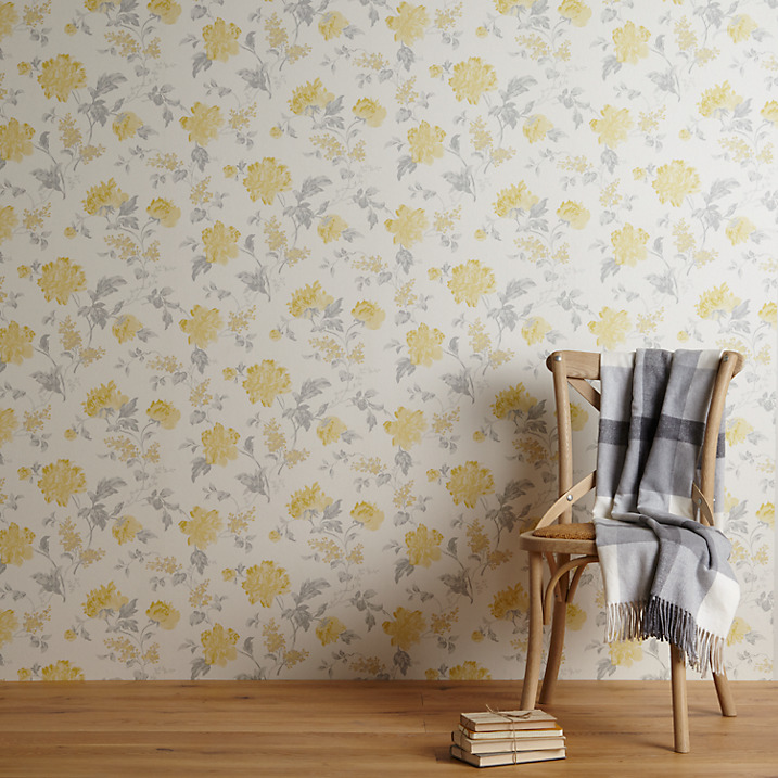 John Lewis Abberley Wallpaper, Yellow