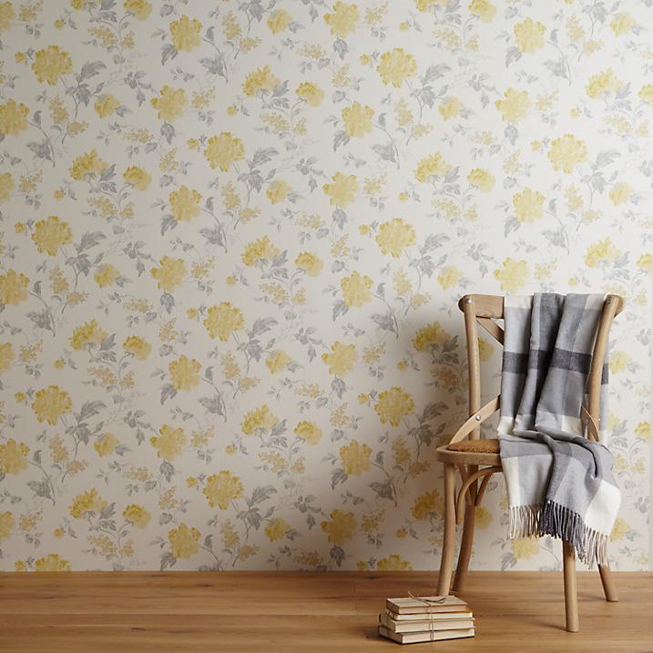 John Lewis Abberley Wallpaper, Yellow