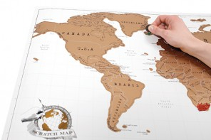 Luckies, cartes du monde à gratter