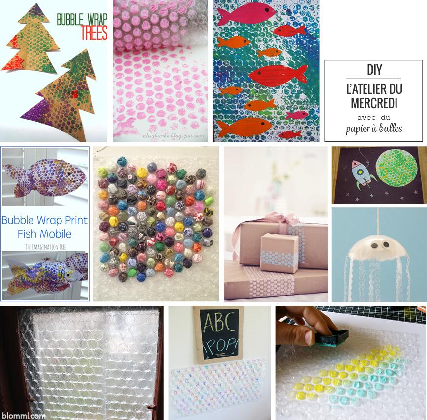 L'atelier du mercredi : DIY avec du papier à bulles