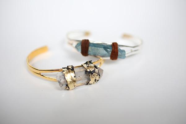 diy quartz wrap bangle // Chic steals