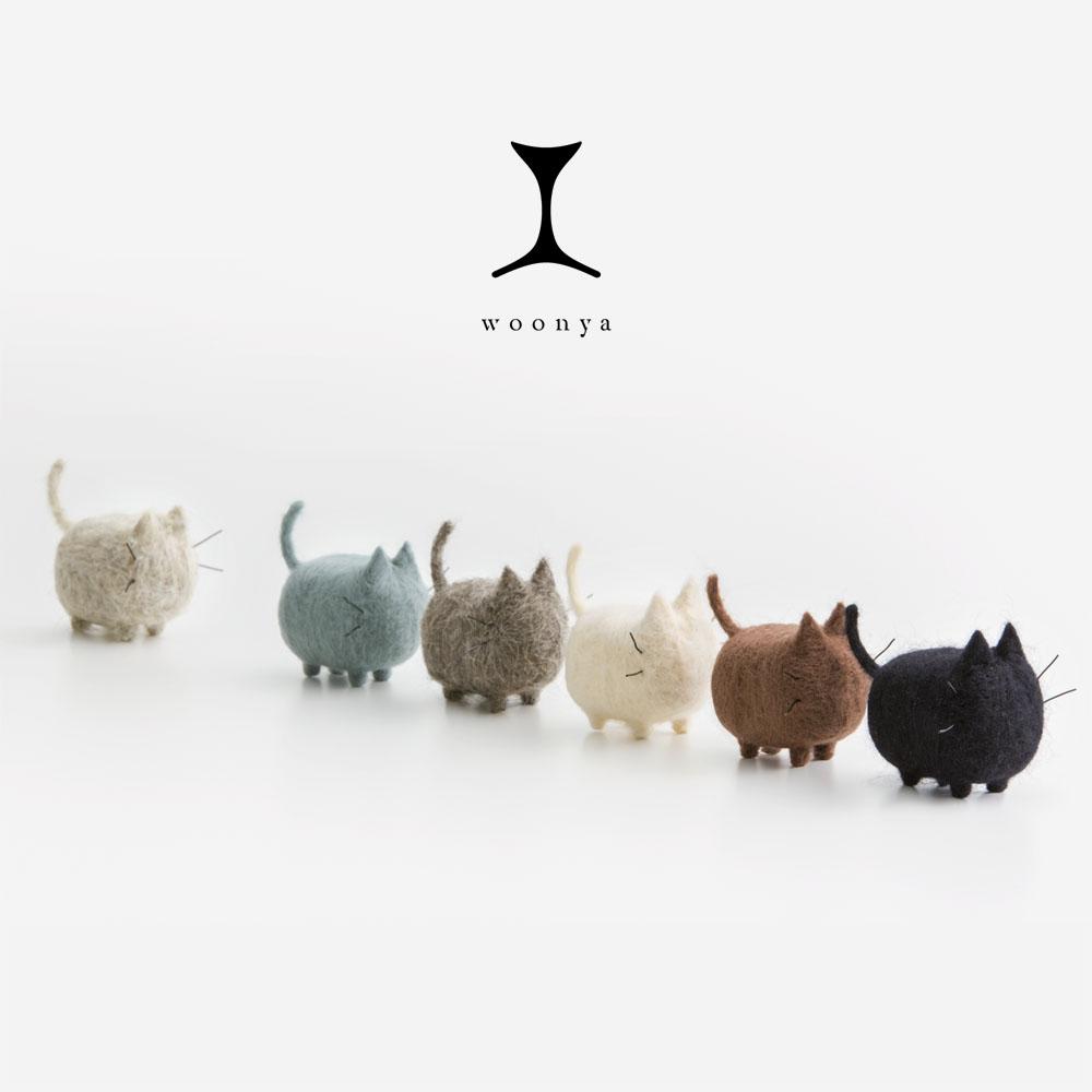 Woonya // Felted-Wool-Cat-Doll-Series-11