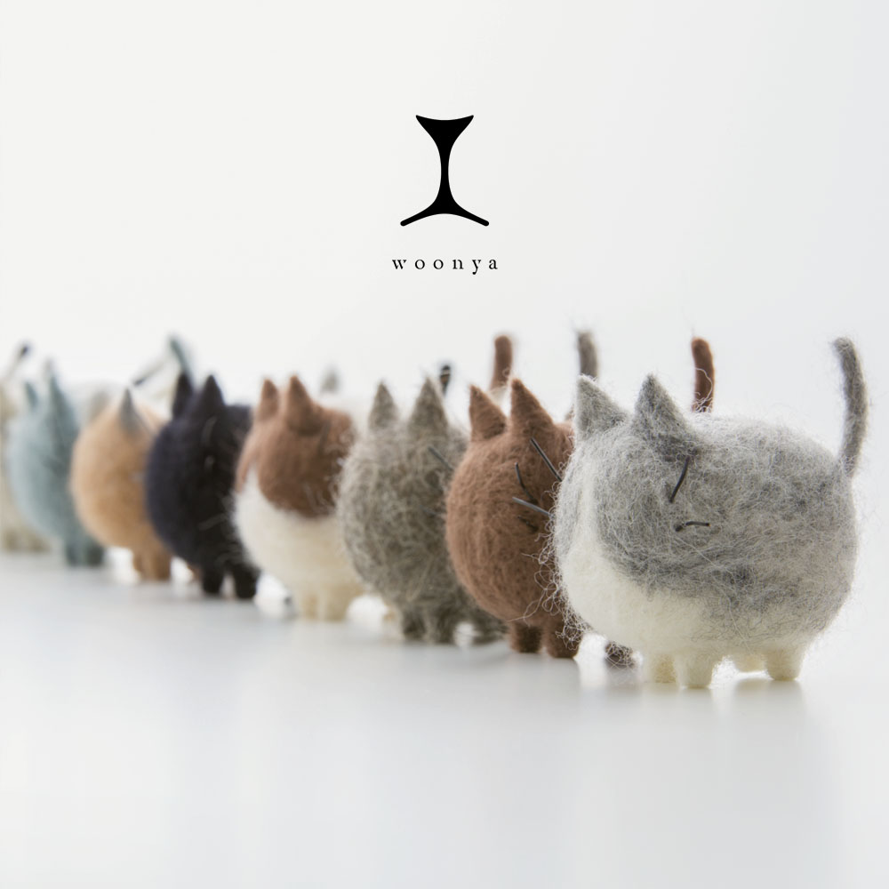 Woonya // Felted-Wool-Cat-Doll-Series-21