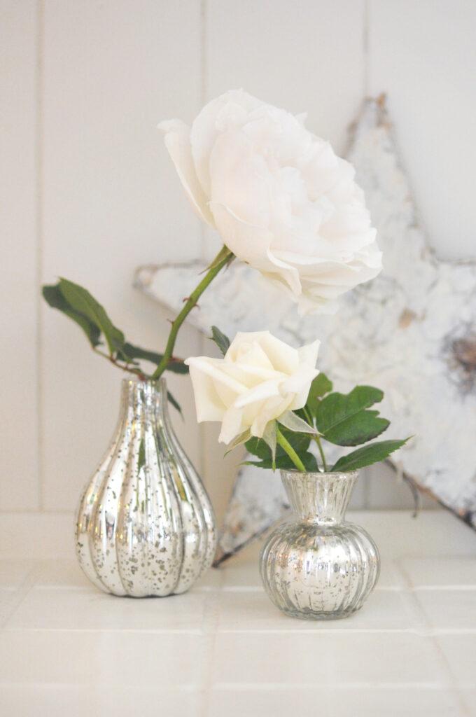 Sophie Allport Christmas Silver Glass Vases