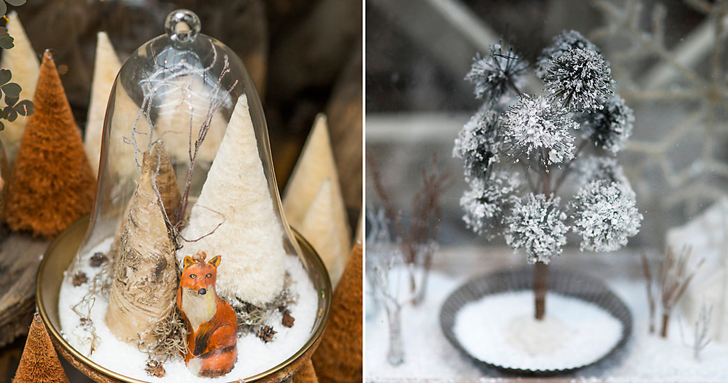 Decor De Noel Sous Cloche