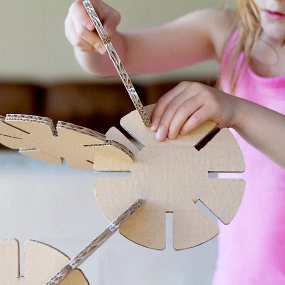 Cardboard building disks