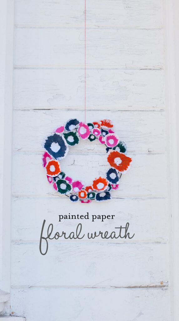 painted-paper-floral-wreath