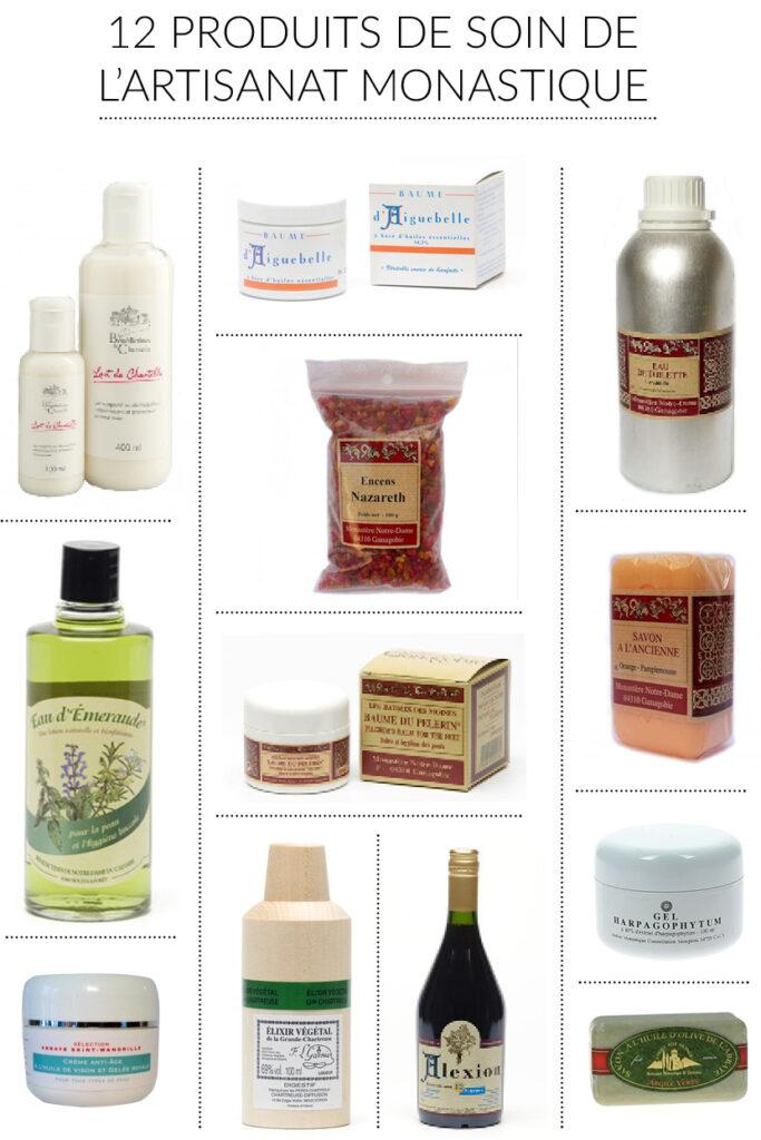12 produits de soin de l'artisanat monastique