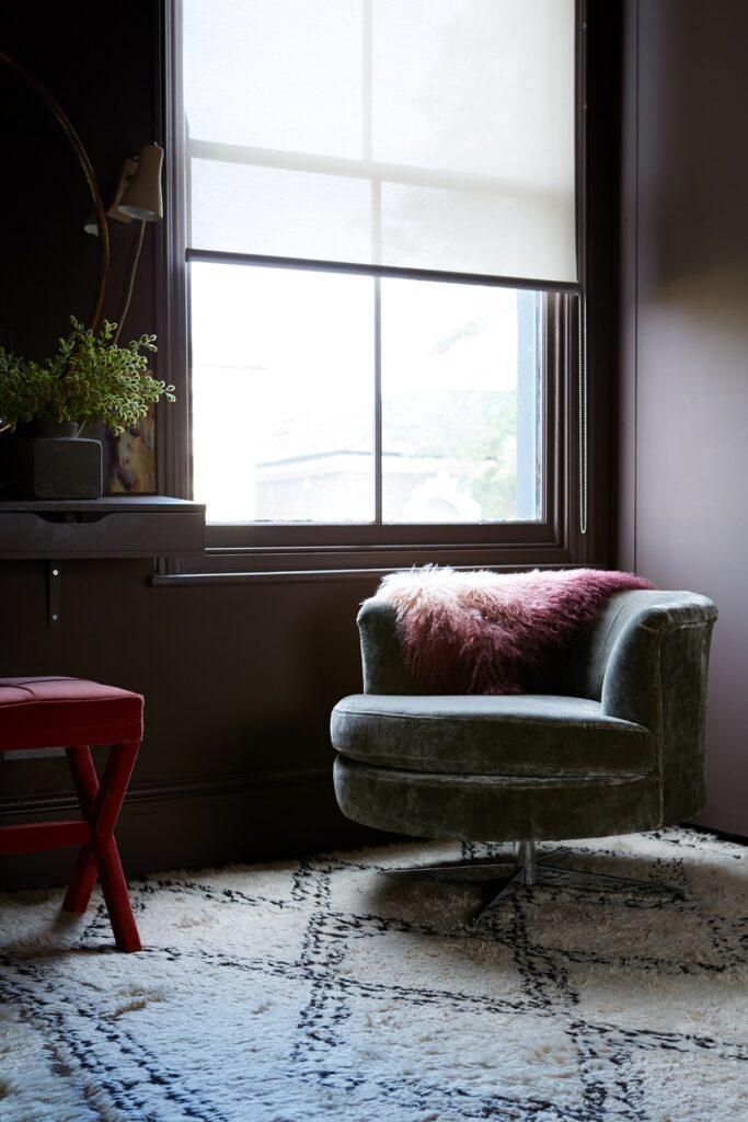 Stanley armchair in Hudson Roosevelt velvet