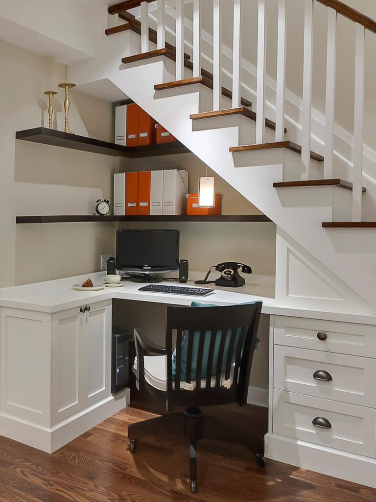 CI-Sage-Design-Studio_under-stairs-home-office // hgtvcom