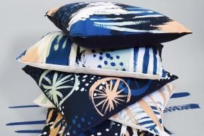 KITH&KIN  navy_cushion_pile