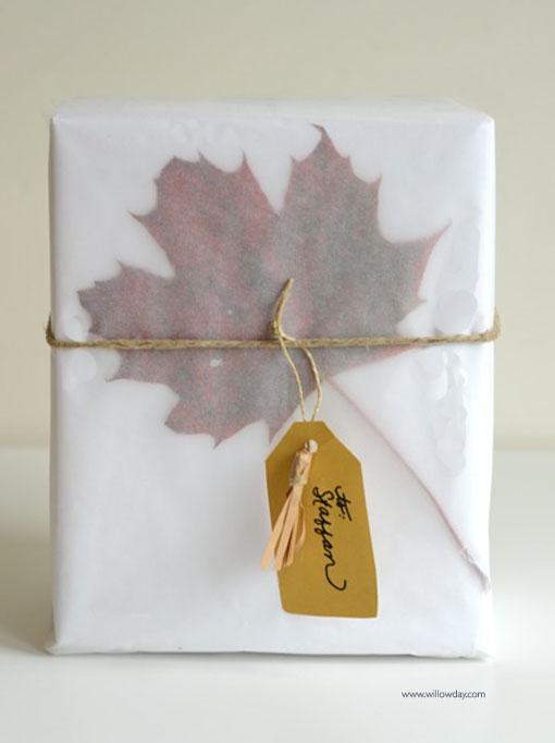 leaf wrapping
