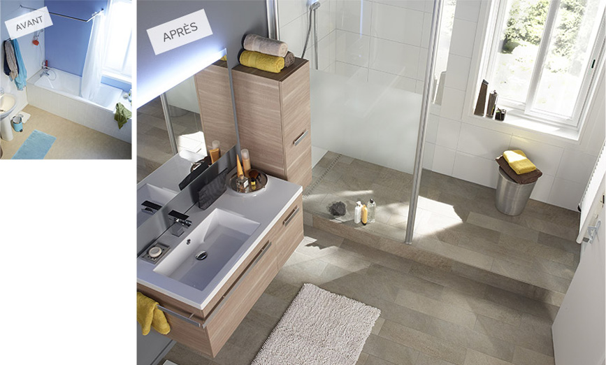 salle-de-bains_renovation_douche-italienne © Castorama