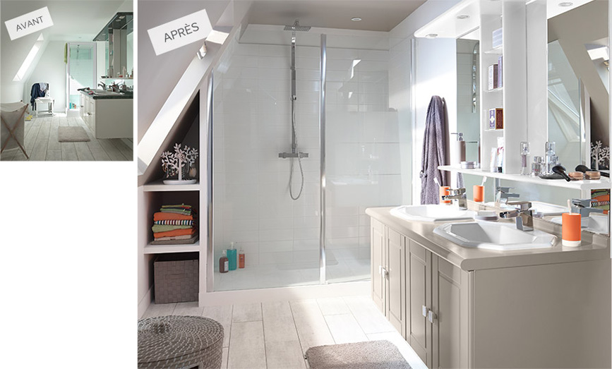 salle-de-bains_renovation_grande douche © Castorama