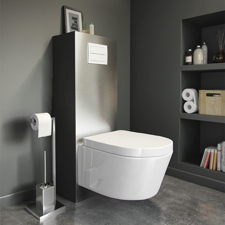 meuble wc suspendu rangement maison design. Black Bedroom Furniture Sets. Home Design Ideas