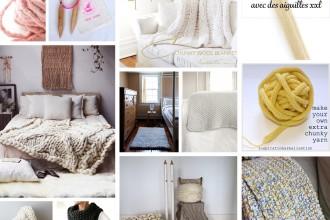 Projets à tricoter avec des aiguilles XXL