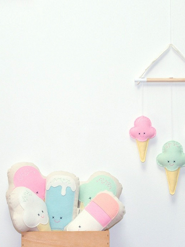 ice_cream_softie_toy_pillow_felt_baby_pastel_the_gathered_store