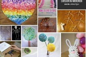 L'atelier du mercredi : DIY avec des cotons tiges