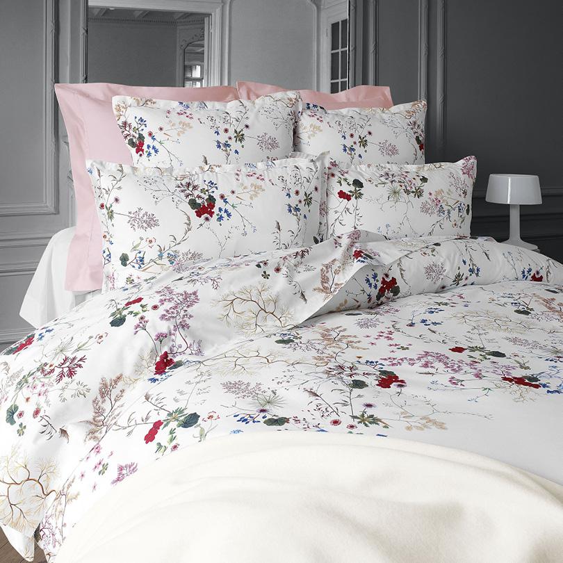 parures de lit à fleurs