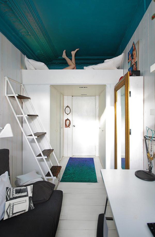 Peindre son plafond en noir - Peindre des poutres au plafond ...