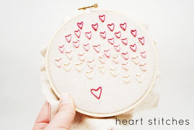 stitching hearts // wild olive