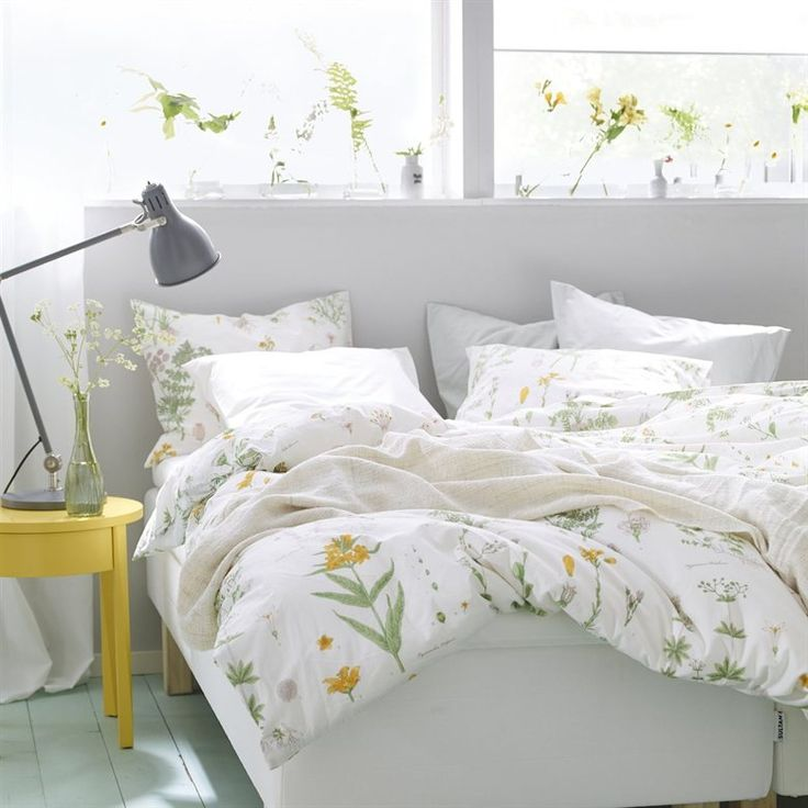 New ikea full queen duvet strandkrypa comforter cover for Queen bed sets ikea