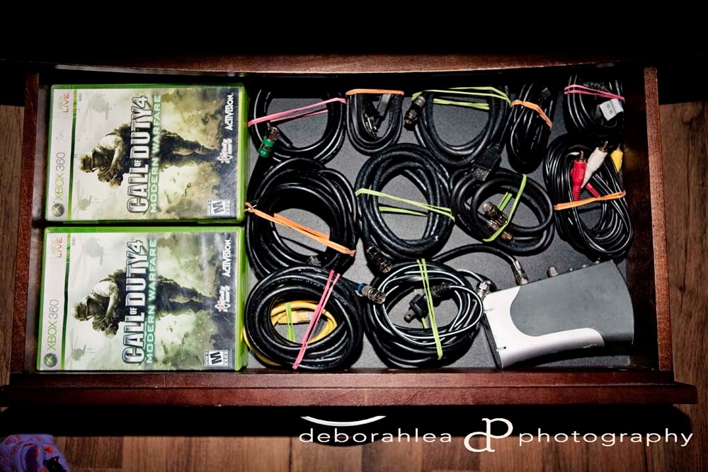 organized electrical cords