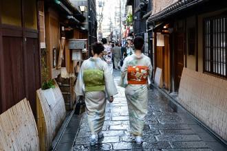 Kimono traditionnelle au Japon