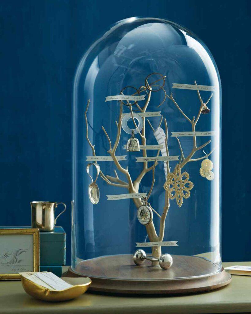 Heirloom Family Tree in a Glass Dome // Martha Stewart