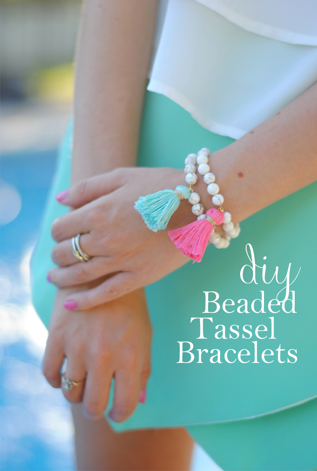 DIY beaded tassel bracelet