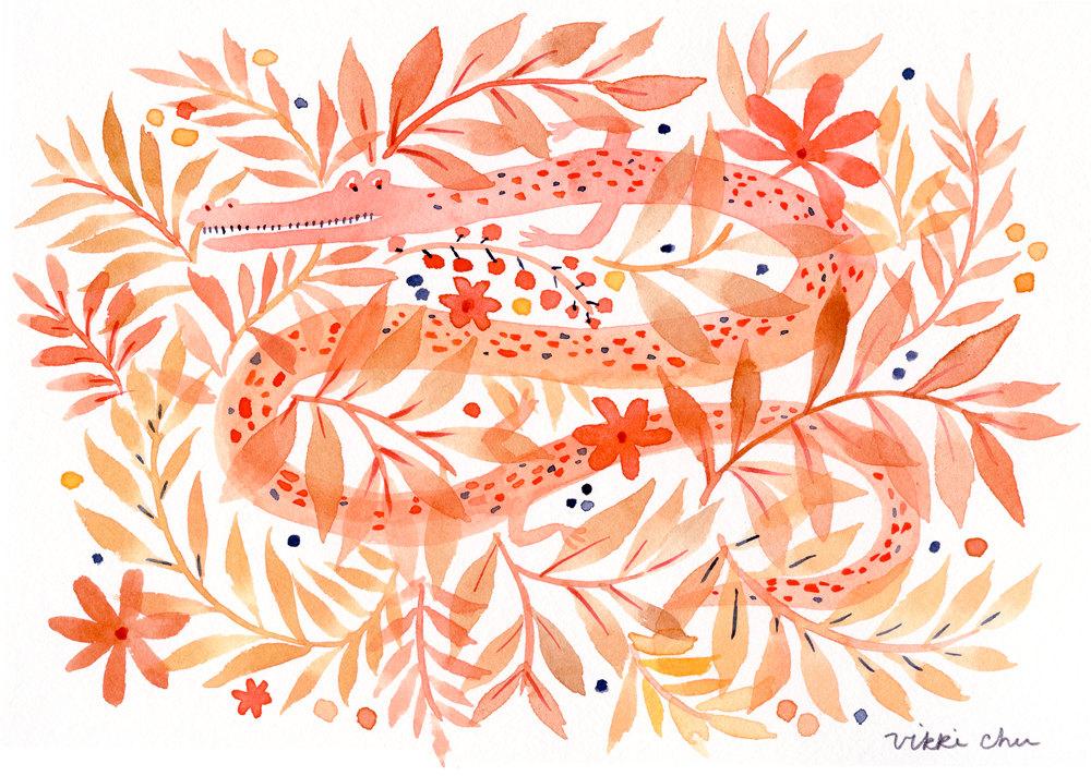 Original Watercolor Painting- Dragon