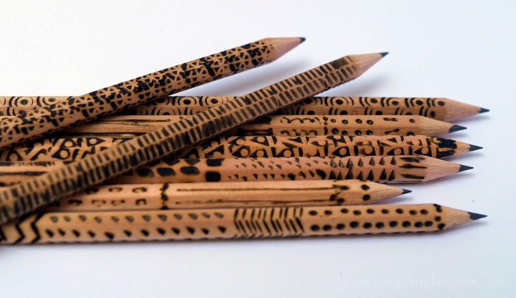 Pyrography wooden pencils- Journey into creativity