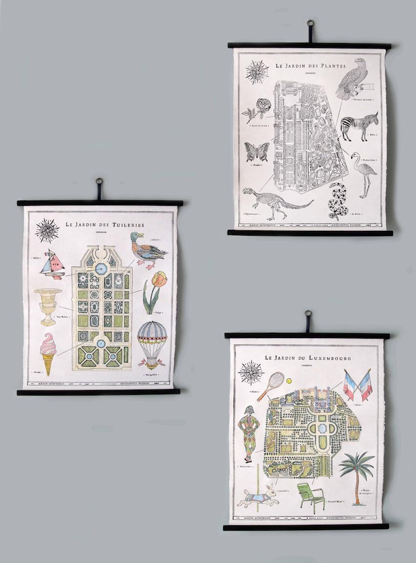 3 affiches Antoinette Poisson x Marin Montagut