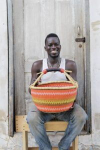 Kwabena Abentar 14'' Round Market Basket H 9''