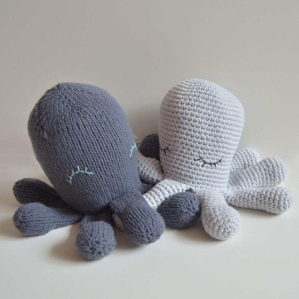 Chouette kit animaux marins crocheter ou tricoter - Animaux en tricot facile ...