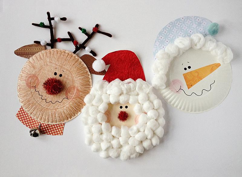 paper-plate-christmas-characters-santa-snowman-rudolph-1