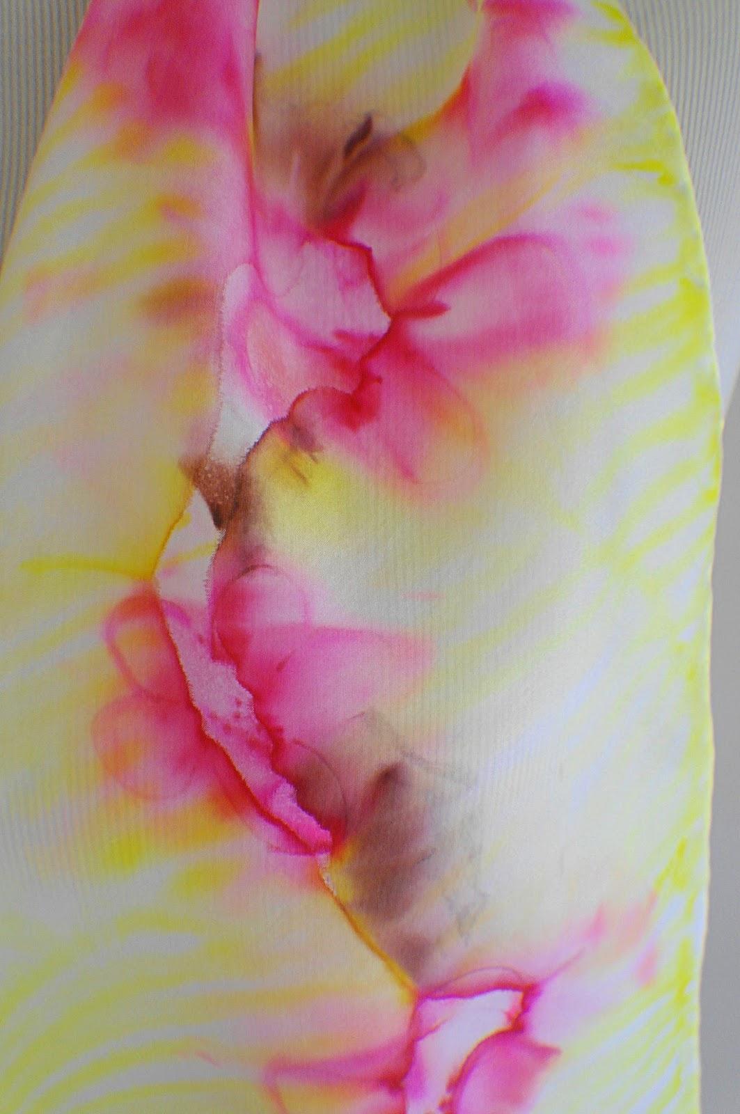Peinture sur Soie  Scarf-015